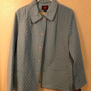 Powder Blue Quilted Coat